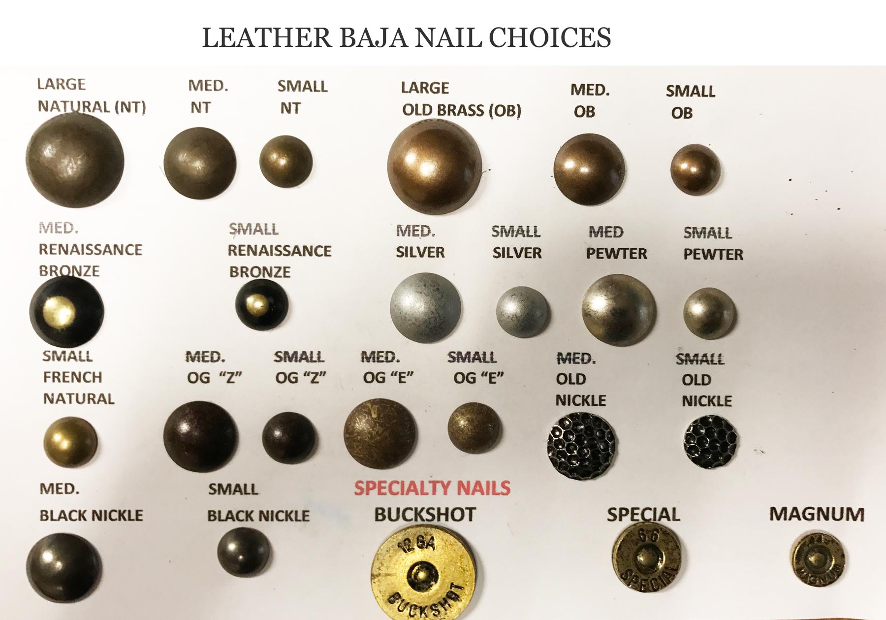 Leather Baja Wood Finish Options