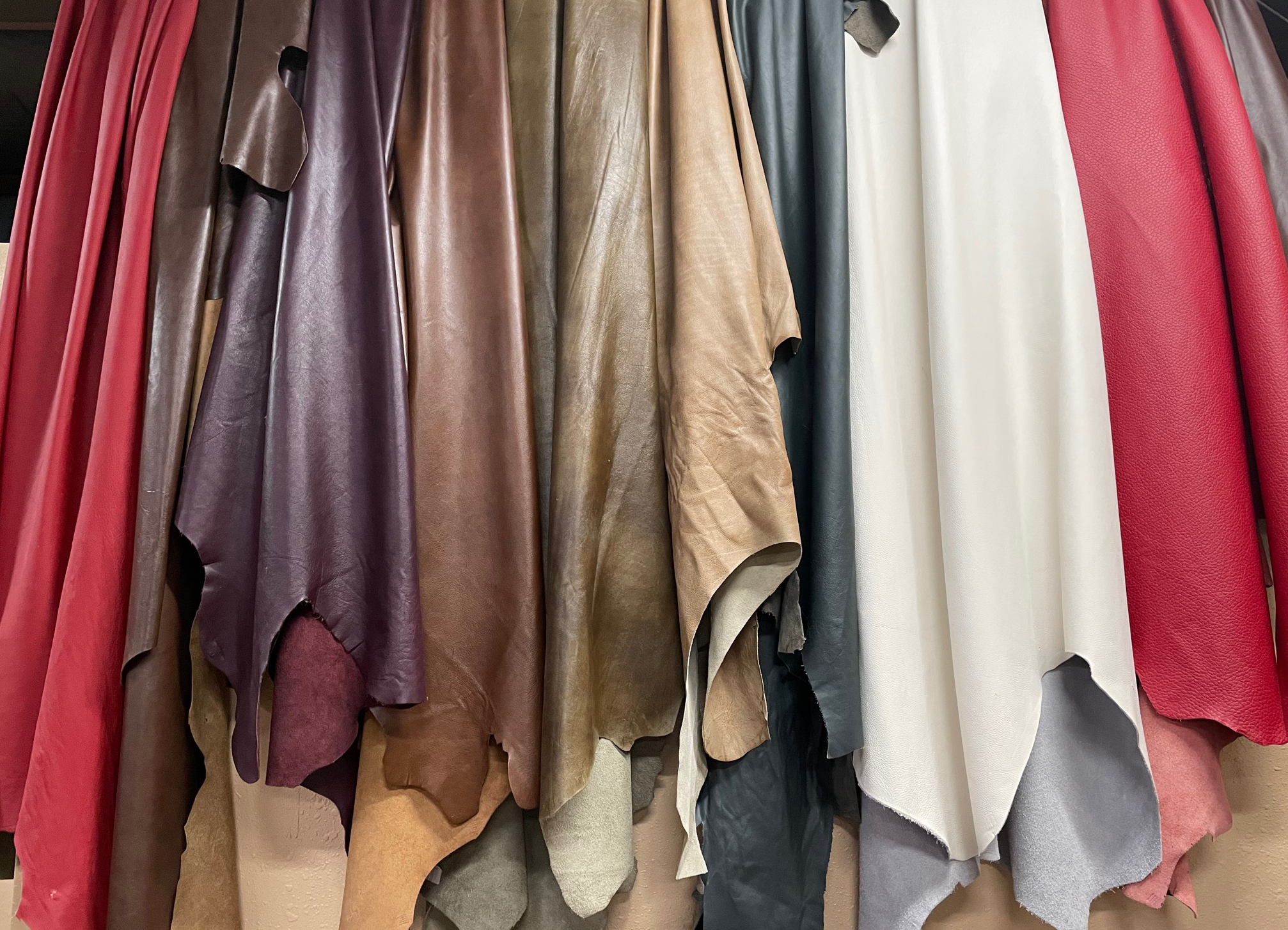 Wall of Leather Hides